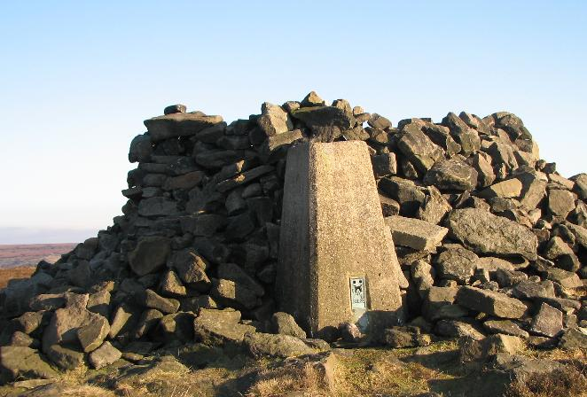 Trig point on Alphin Pike