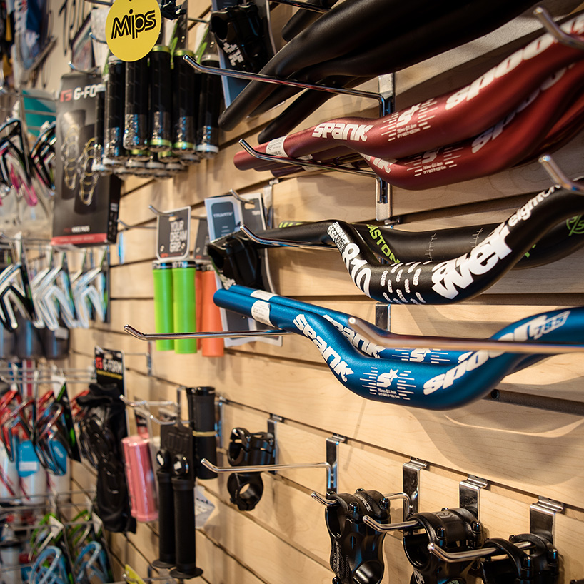 accessories - We carry everything you need to fit out your bike and improve your personal performance on the trails. Lights, helmets, bike pumps, tubes, and more for your bike and performance gels, water bottles, and energy packed foods to keep you going strong.