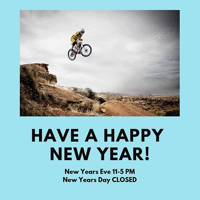 Thanks everyone for an amazing year! We have tons of fun and exciting things planned for 2019 and can't wait to get started.  We will close at 5pm on New Years Eve and be closed on New Year's Day.  Hope to see you all join us for the New Year's Day Hair of Dog Charity Ride!