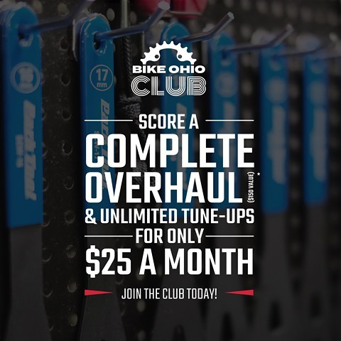 Join the Bike Ohio Club in February to get your included overhaul and then unlimited tune-ups for whole year! Follow the link in our bio to join ☝️