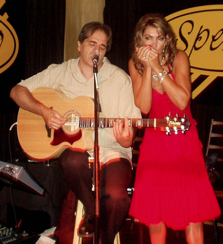 With Mystery Harmonica Lady