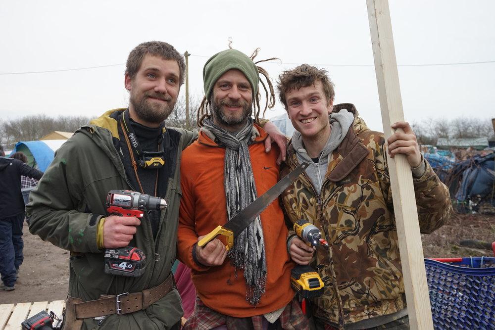 Calais jungle volunteers.JPG