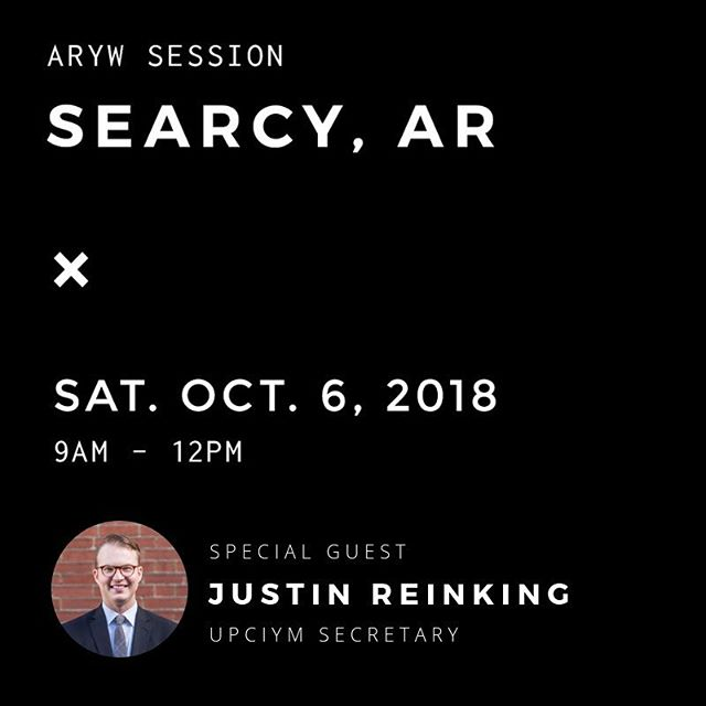 Today is the day! We can't wait to see all of you in Searcy. Who's ready?