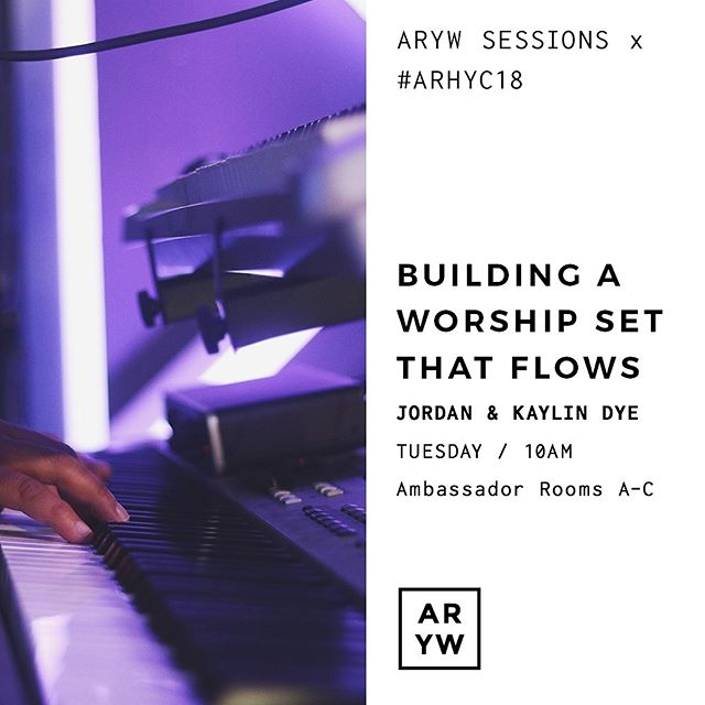Join us tomorrow for our second ARYW Session - we can't wait to see you! - 10am x Ambassador Rooms A-C