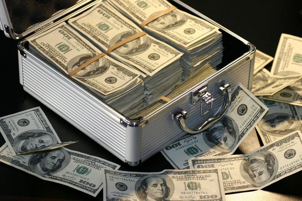 Money, cash in a box