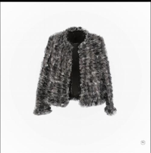 """""""iconic"""" the Chanel Tweed jacket."""