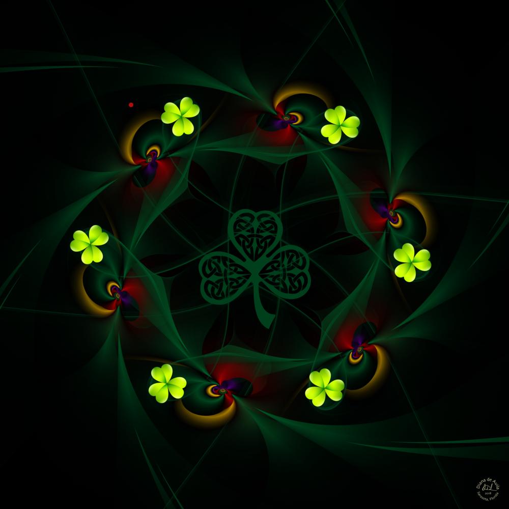 St Patrick's Whisper   A Fractal hybrid image.