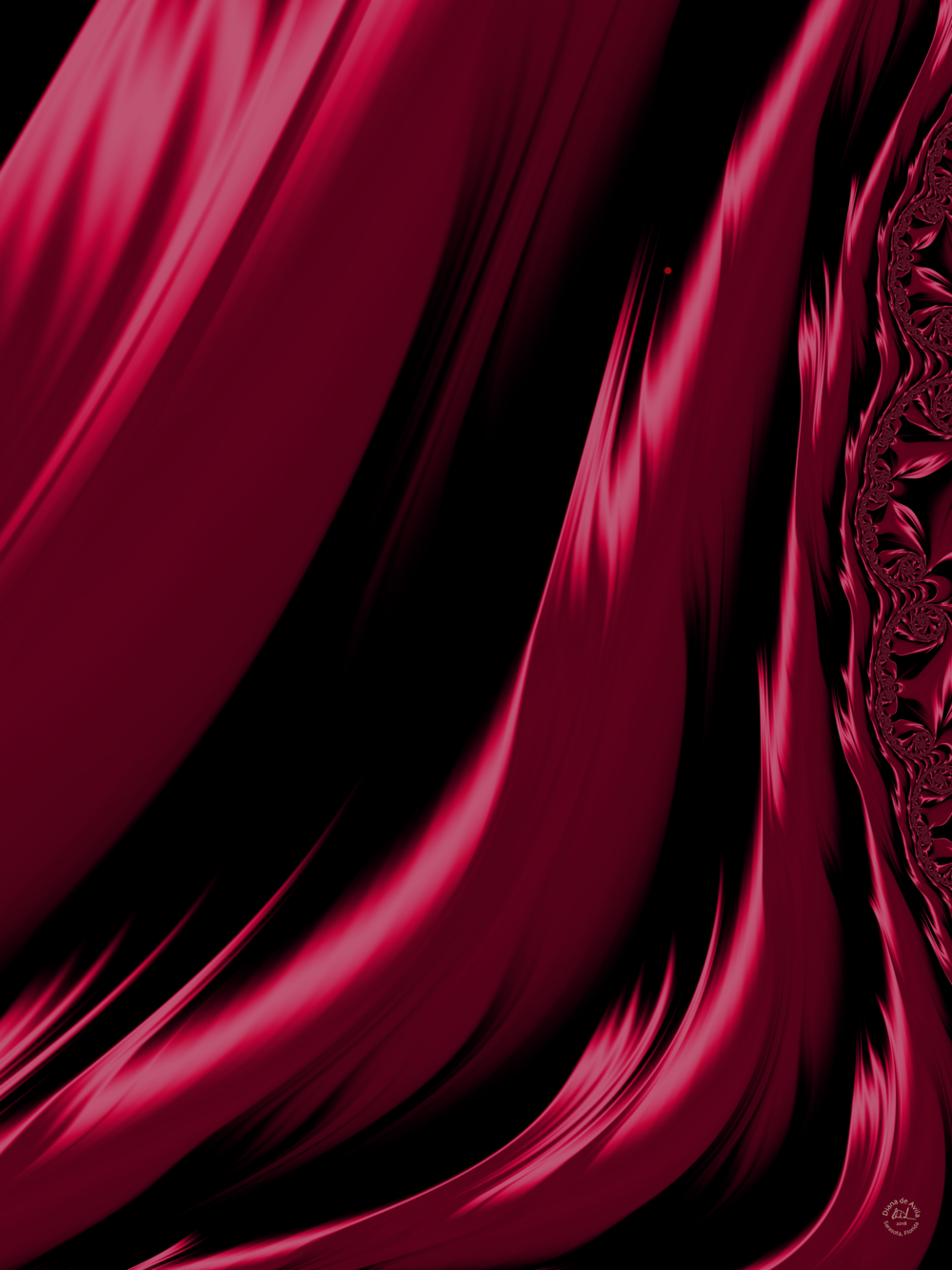 The Red Gown   A Fractal segment.