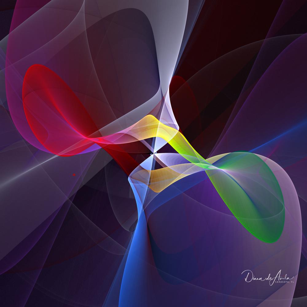 Technicolor Kiss   A Fractal hybrid image.