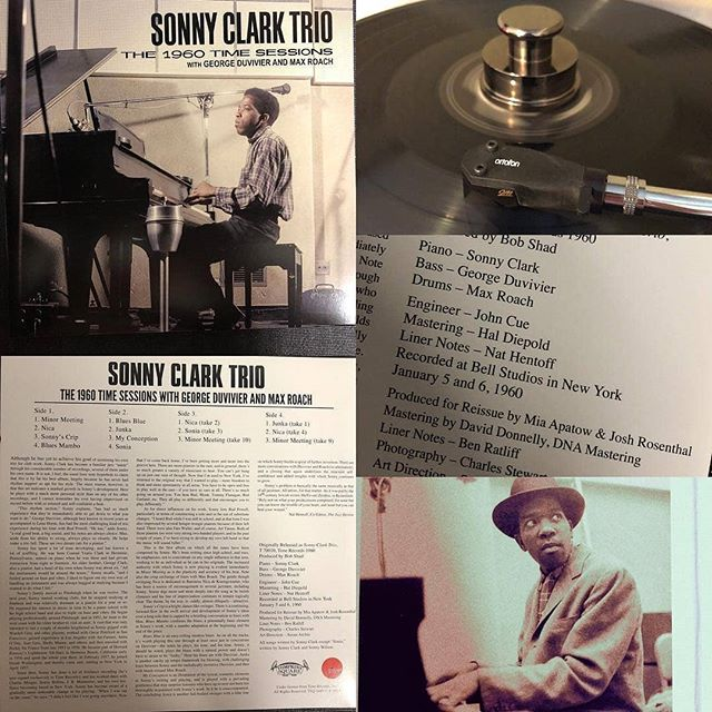 "Proud to have mastered this classic!  Regrann from @33.3vinyl - ""The 1960 Time Sessions"" : Sonny Clark Trio - - - Blues Mambo 🎶 - Mastered By  Dave Donnelly Mastered At @dnamastering - - -  #timerecords #ortofon2mblack #gatefold #doublelp #vinyl #record #piano #hardbop #maxroach #drummer #sonnyclark #georgeduvivier #vinylcollection #recordcollection #onmyturntable #33rpm #dnamastering #vinyllovers #vinyligclub - #regrann  #davedonnelly"