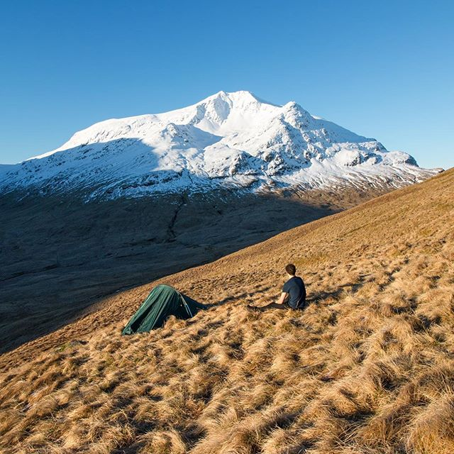Folk sometimes ask where's best for a first time wild camp. For me it was Ben Lui. Fairly easy hike in (much easier with a bike) and a rewarding view if you get the right weather.  Location: Ben Lui, Scotland