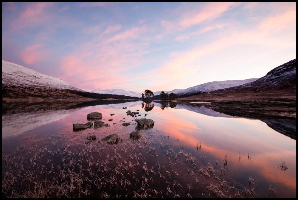 Loch Ossian in winter
