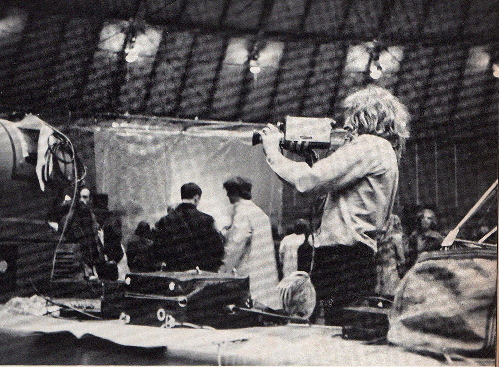Skip Blumberg with Sony Portapak in production (1970)