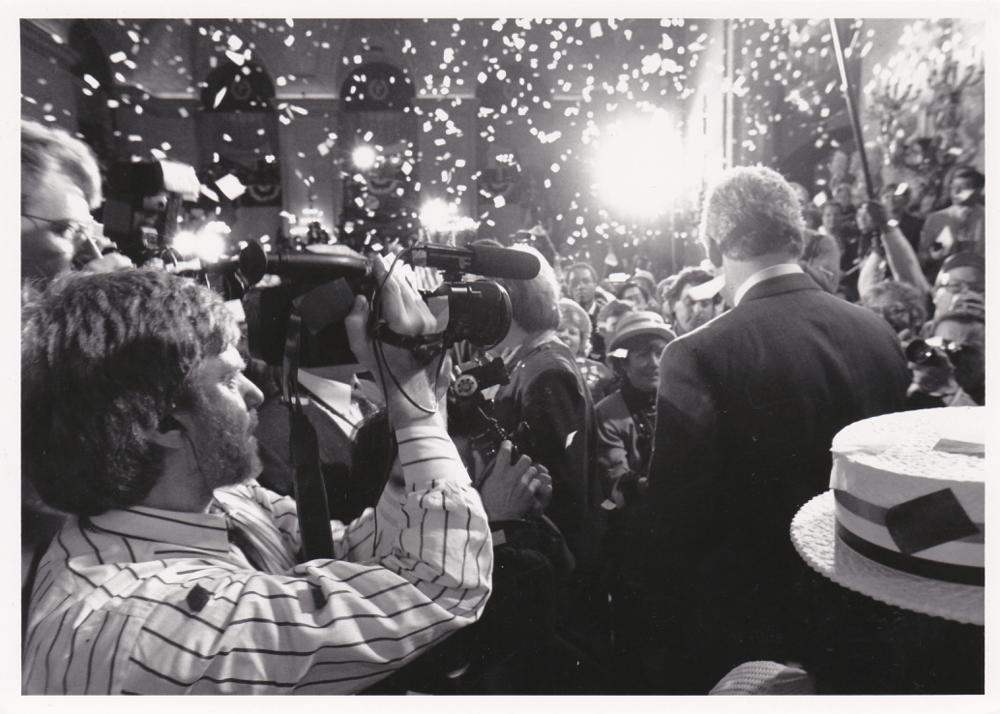 Skip Blumberg films Bill Clinton during 1992 Illinois primary