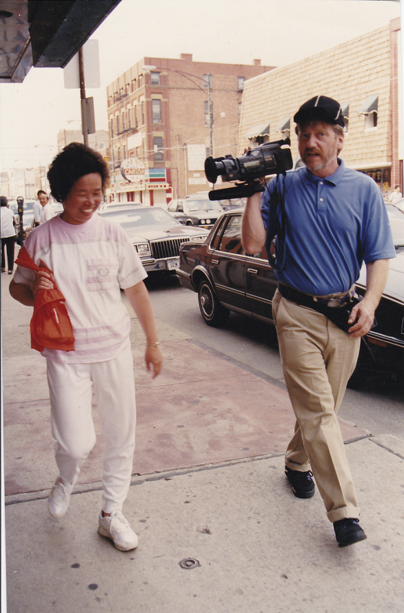 """Skip on production for """"Chicago Slices"""" in Chinatown, Chicago"""