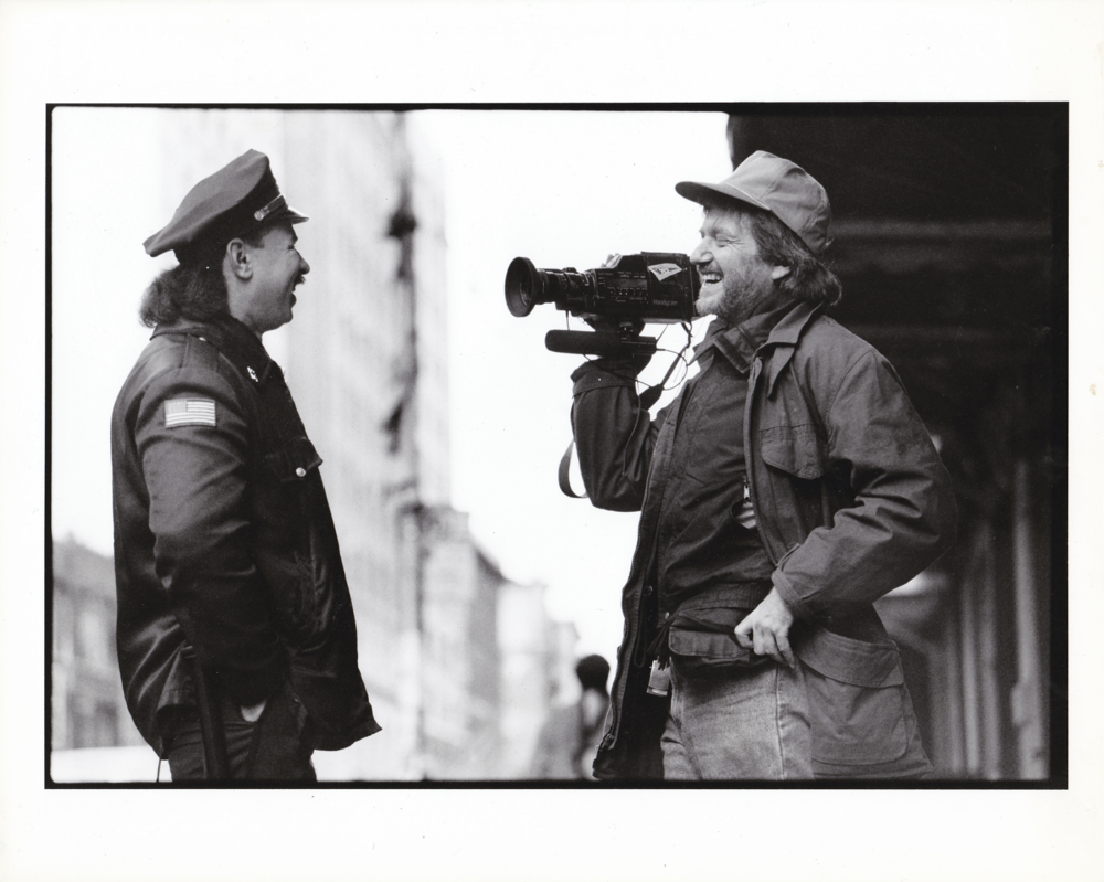 "Camera journalist Skip Blumberg films ""Whose Streets?"""