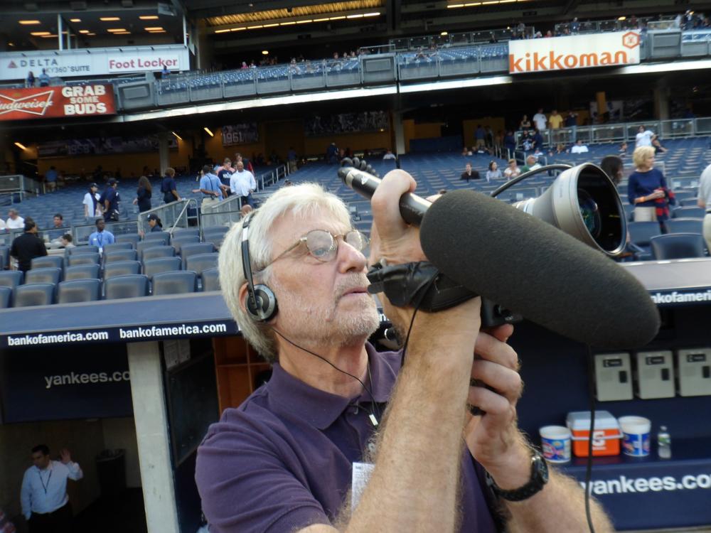 Camera journalist Skip Blumberg at Yankee Stadium