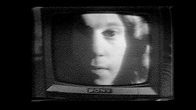 "Skip on a Sony TV in a still from Videofreex production ""Me's and Youse"" (1971)"