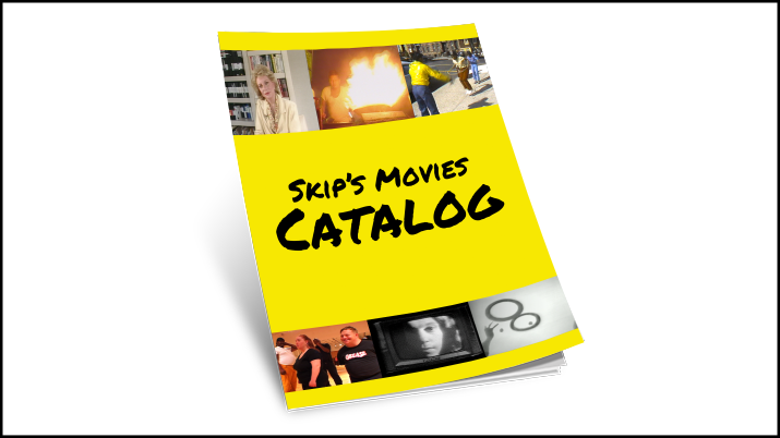 Skip's Movies Catalog - Since 1969 Skip Blumberg has produced several hundred documentary, performance, and experimental videos, independently, collaboratively and as work-for-hire. This extensive albeit incomplete list of most titles released on the web, TV, DVD, and videotape, includes restored digital versions now available on-demand or as free previews, unrestored videotapes in the archive (of all consumer and professional video formats), and some titles gone, but now not forgotten.