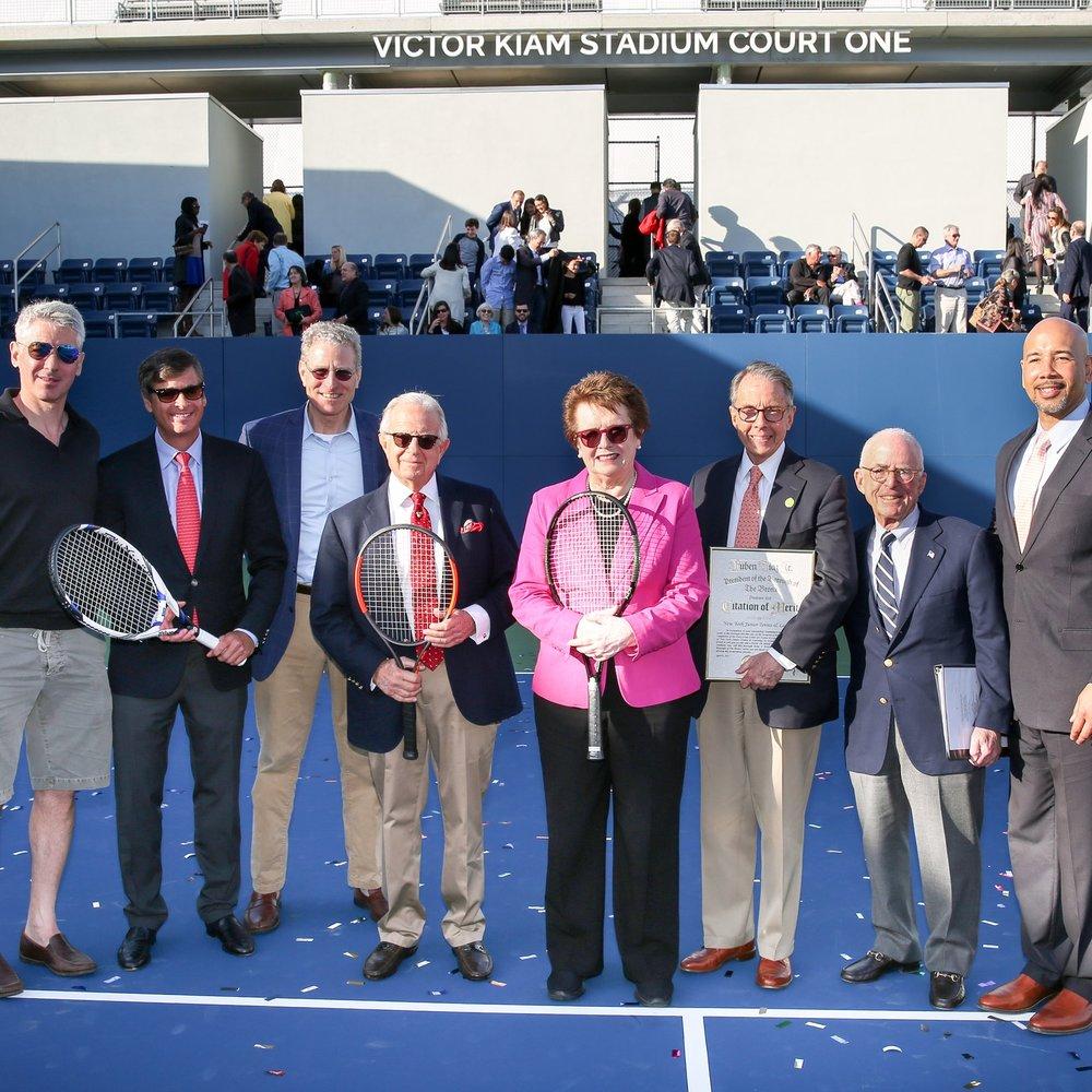 NYJTL Cary Leeds Center Stadium Court Dedication