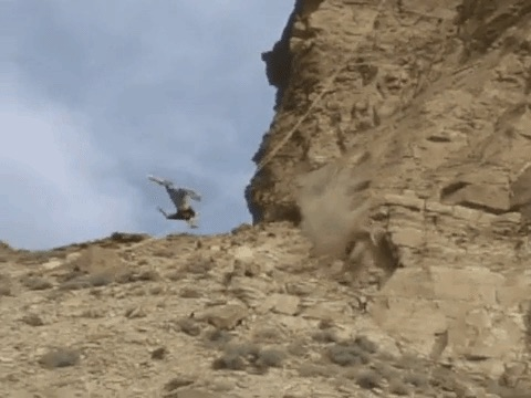 Assisted Fall from Cliff