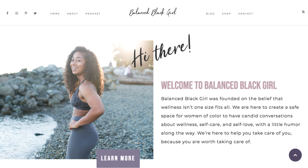 Les. - @balancedles: Les is the fitness-loving founder of Balanced Black Girl, a podcast and supportive wellness community for women of color. She creates space for women to have candid conversations about wellness, self-care, and self-love, with a dose of humor. BalancedBlackGirl.com