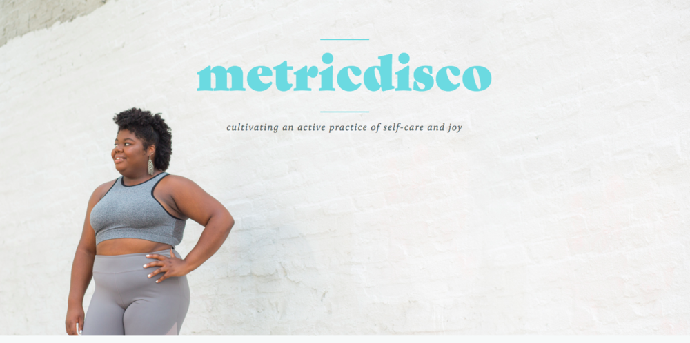 "Melissa. - @metricdisco: Melissa shares her personal wellness journey unapologetically. Along the way she's learned to give herself ""permission to enter spaces of predominately thin, white people and tell myself ""yes, this is for me"" even when I felt like the people around me were implicitly telling me no"". Follow along as she cultivates an active practice of self-care and joy at MetricDisco.com"
