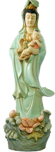 Ch 144 - Guanyin status holding baby.png