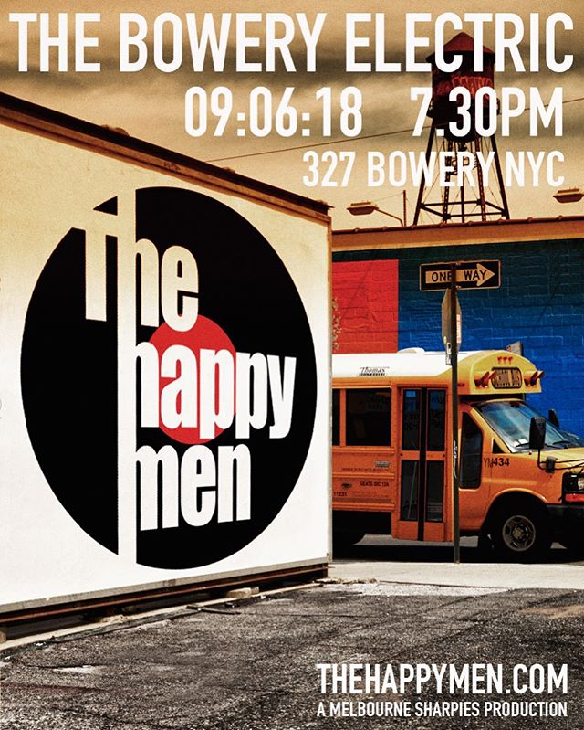The boys are back on the Bowery next Thursday night @theboweryelectric 7.30 show. Tickets @ticketfly