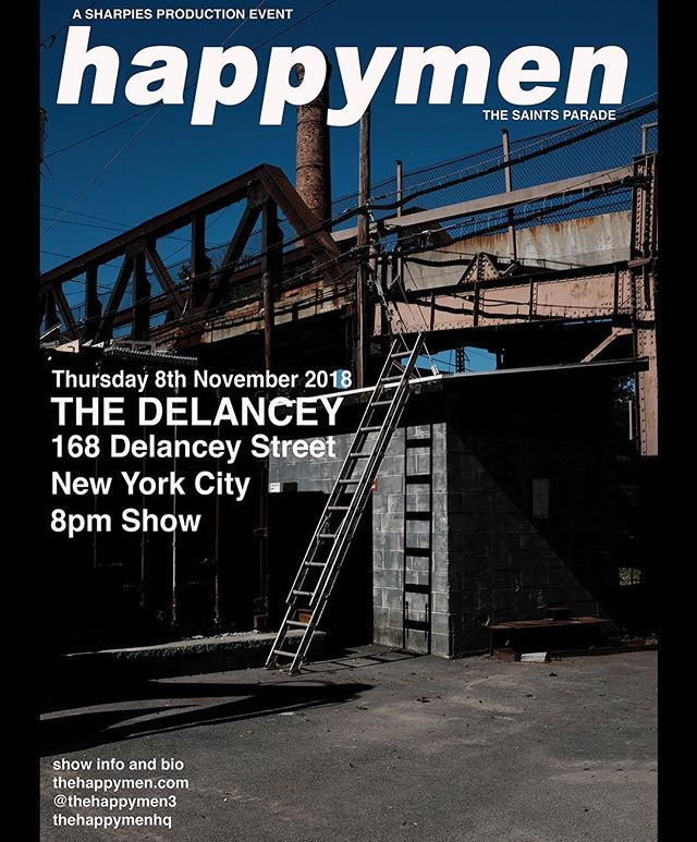 The Happy's November groove train at The Delancey November 8th.