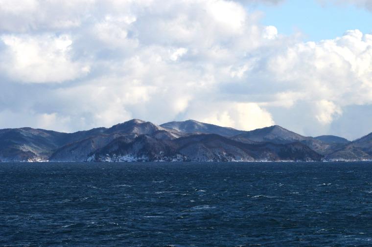 Pemandangan di deck ferry