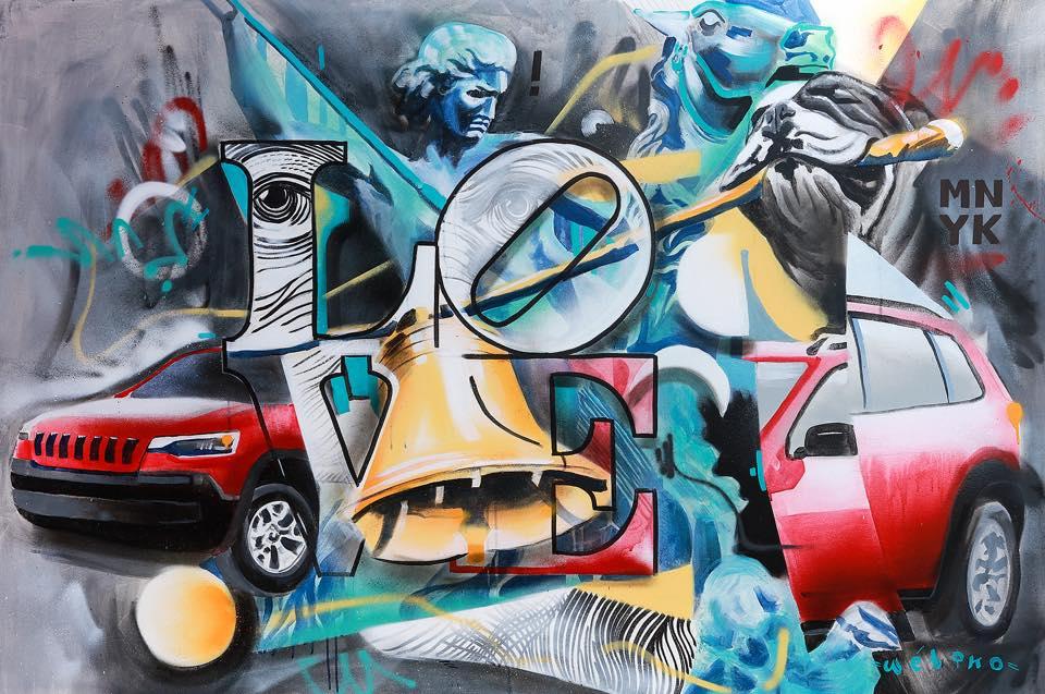 Day One - Manayunk Arts Festival 2018 - 4'x6' Acrylic on Canvas