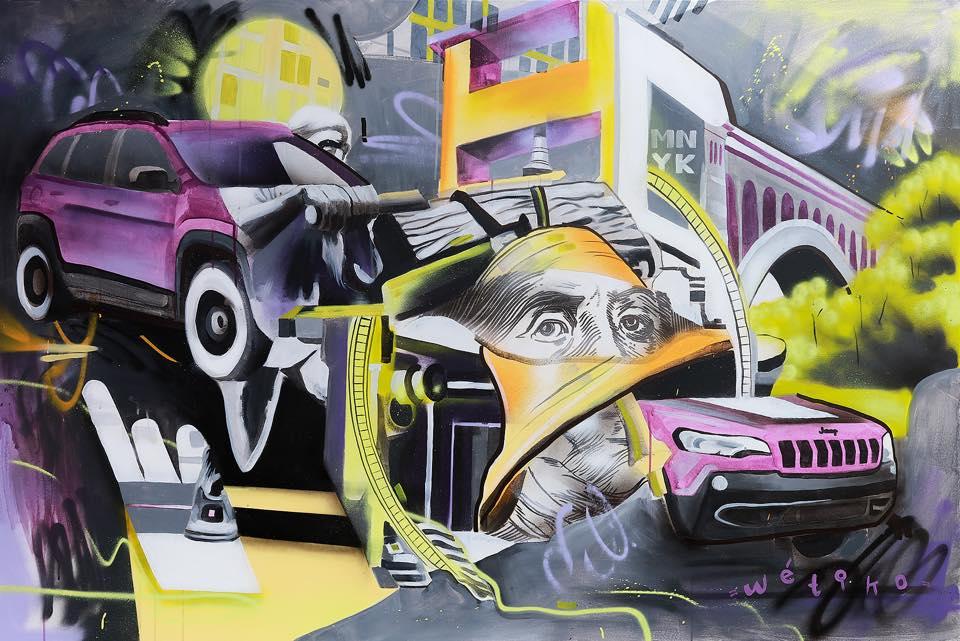 Day Two - Manayunk Arts Festival 2018 - 4'x6' Acrylic on Canvas