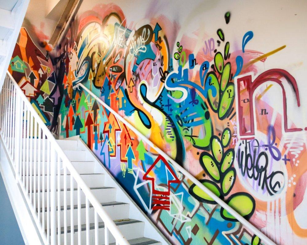 Startup Nation Stairwell - Birmingham, Michigan