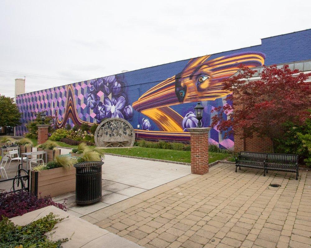 Pocket Park mural - Dearborn, Michigan