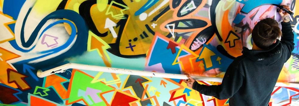 graffiti stairwell