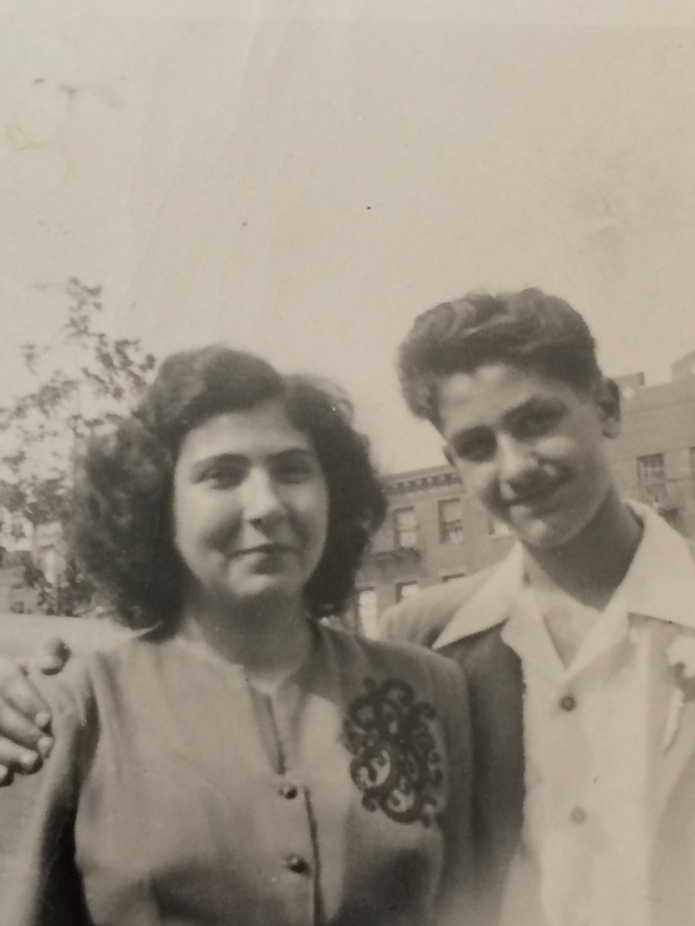 Nonna and one of her brothers.