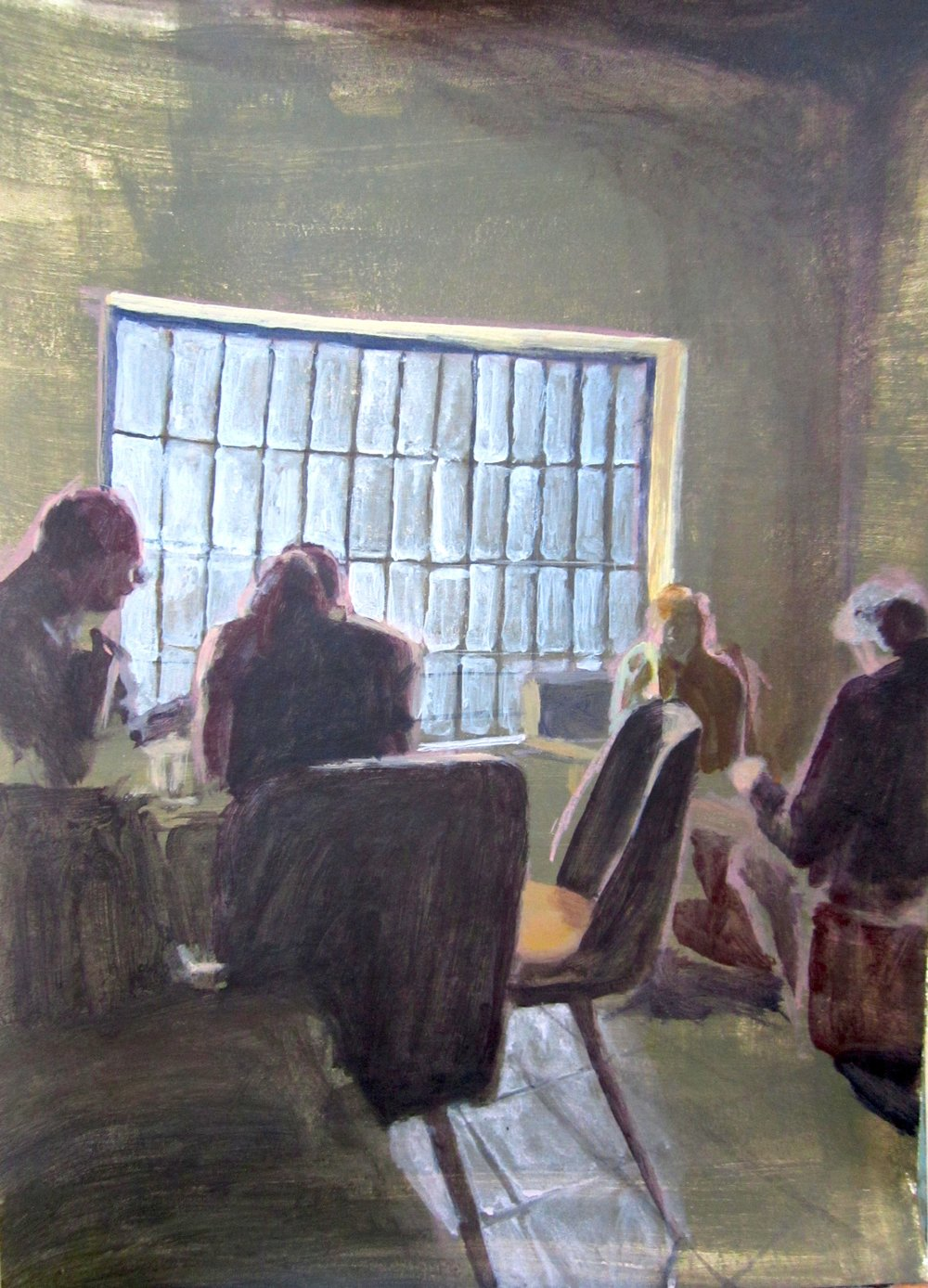 A painting from 2012 in Pécs.