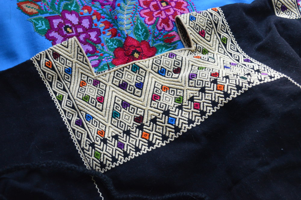 Hand-embroidered blouses from Chiapas.
