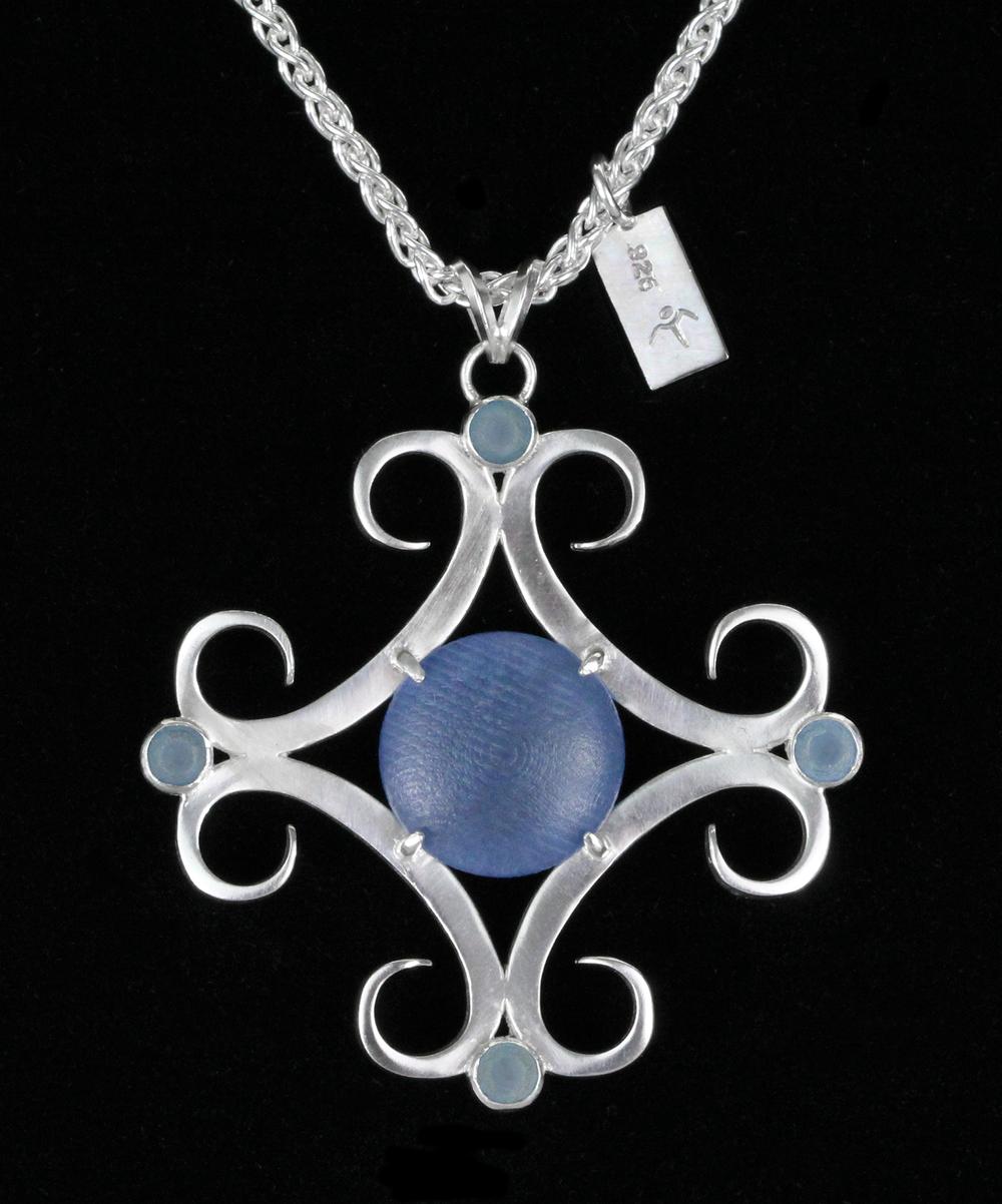 Silver and SLA Pendant