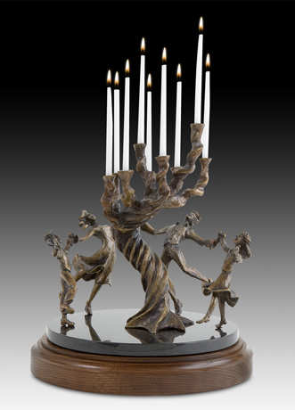 The Tree of Life Family Menorah