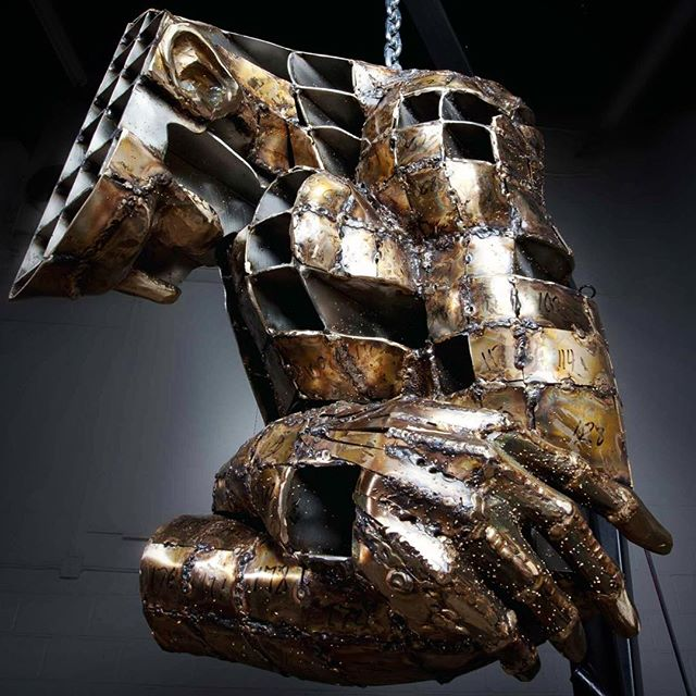 Convergence Module I Fabricated Bronze, and Stainless Steel  #metalart#metalsculpture#metal#figurativeart#figurative#figurativesculpture#sculpture#bronzesculpture#lifesize#art#metalwork#welding#weldart#fabrication