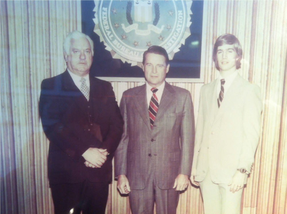 """photo provided by Kevin McLaughlin 1980 photo of past Sheriff Eale """"Buzz"""" McLaughlin, Judge William Webster, and present Sheriff Kevin McLaughlin."""