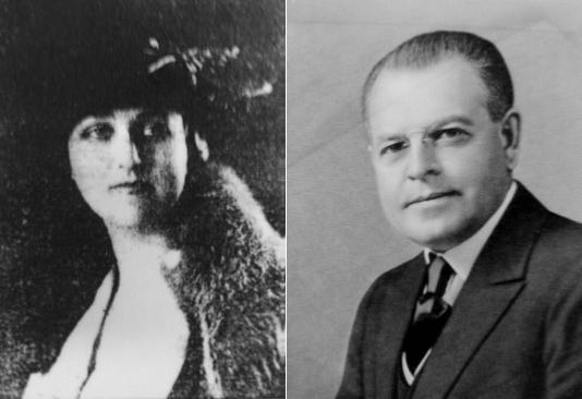 Dorritt Stevens Woodhouse and Attorney Warren Austin.