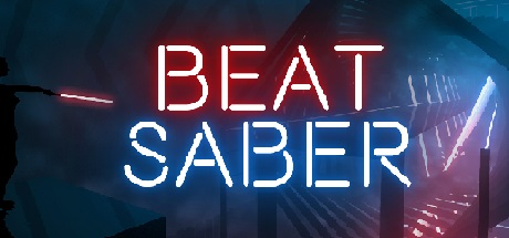 BeatSaber logo for use on Digital Worlds VR arcade website for their virtual reality arcade located in Franklin TN in the Cool Springs area