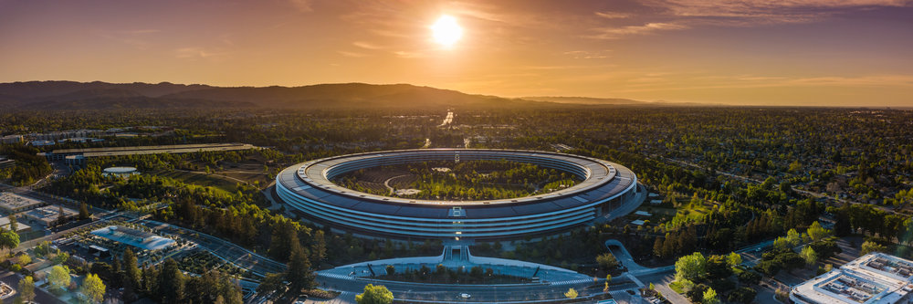 Apple HQ - Purple sky and cool foreground. (centered)