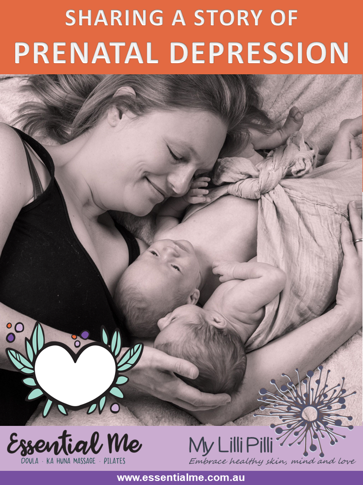 Sharing a story about prenata / antenatal depression with Essential Me doula services sydney doula birth and postpartum doula and ka huna massage