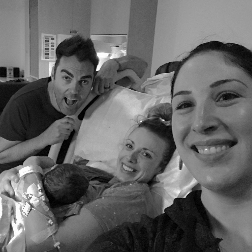 selfie birth photo, what does a doula do? great new family photo, birth photography, photographer, doula meaning, there just for you