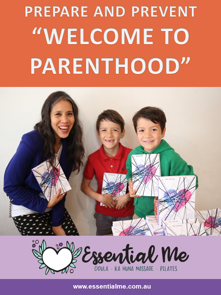 Suni Sanchez has written a book Welcome To Parenthood and has helped to write this blog post for me, Amanda the doula, essential me services, sydney doula, birth doula, postpartum doula, postnatal doula, ka huna massage therapist - for my blog post.