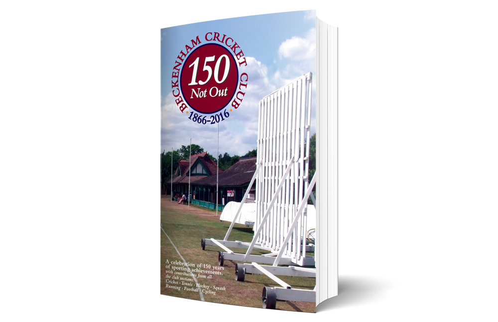 150 Years not out - A celebration of 150 years of sporting achievements. with contributions from all the club sections: Cricket, Tennis, Hockey, Squash, Running, Football and Cycling. Available to purchase from the bar.